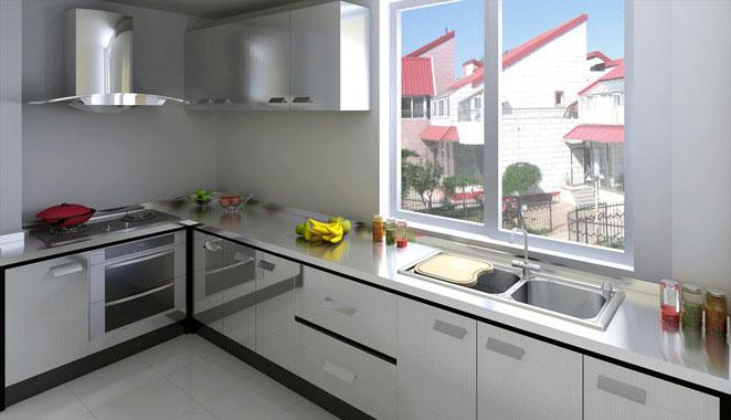 不锈钢厨房橱柜效果图