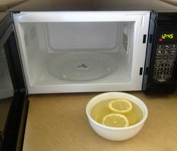 柠檬水洗微波炉