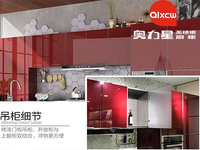 中国红吊柜细节