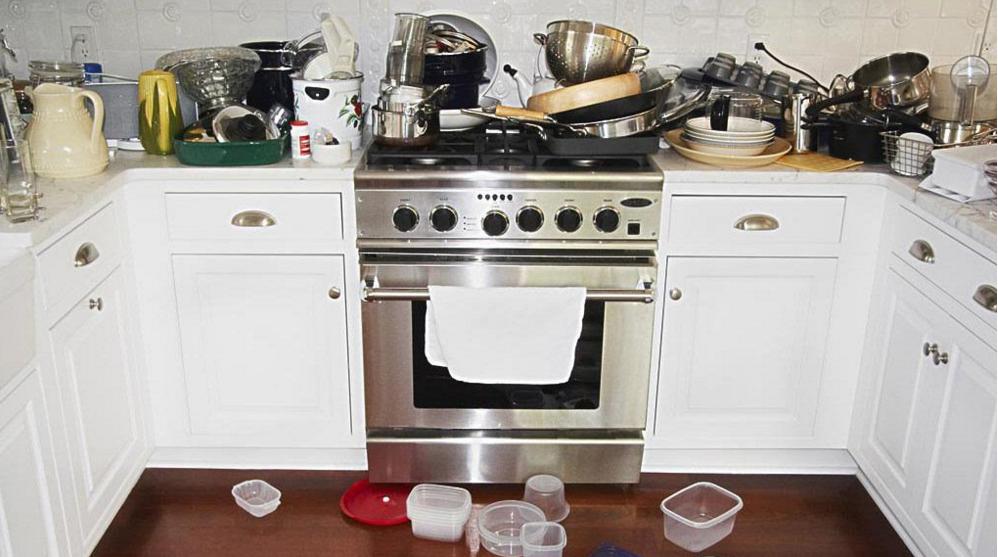 乱糟糟的厨房