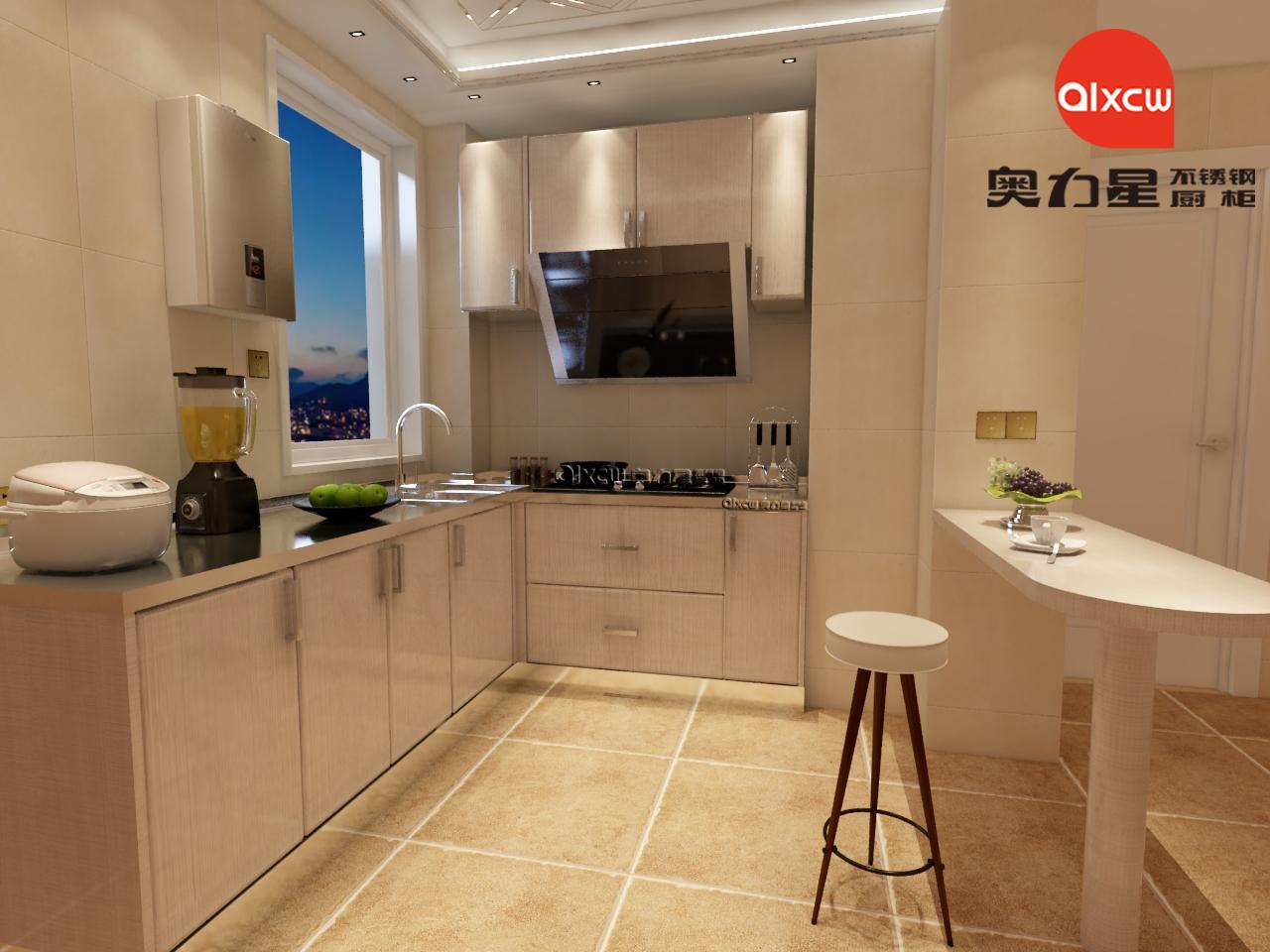 厨房照明L型橱柜