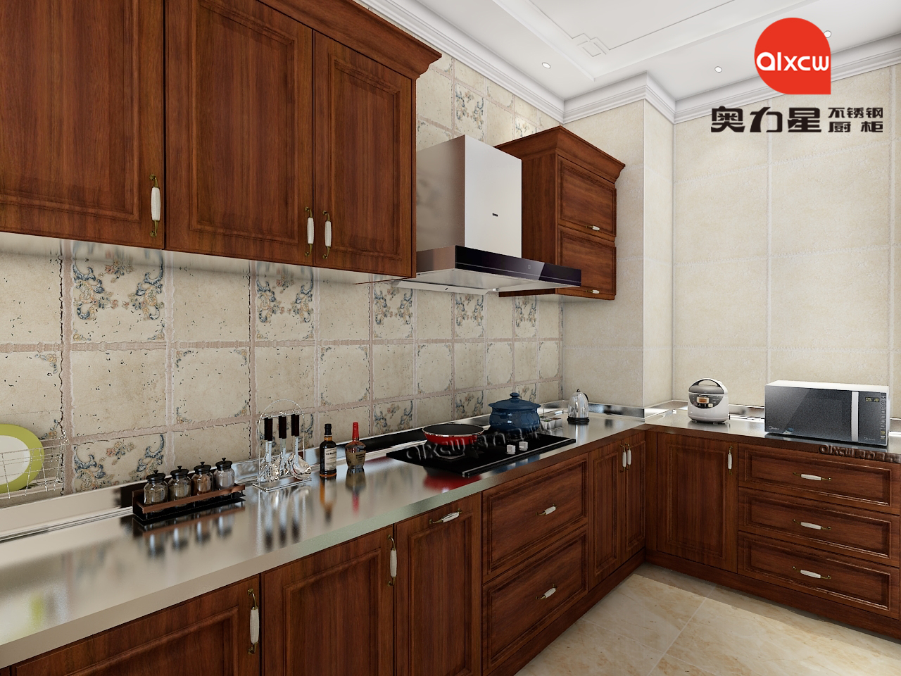 中式橱柜不锈钢