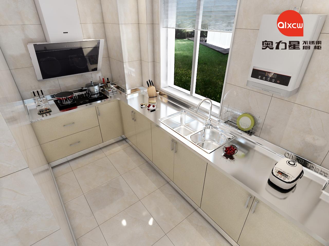 小厨房橱柜效果图