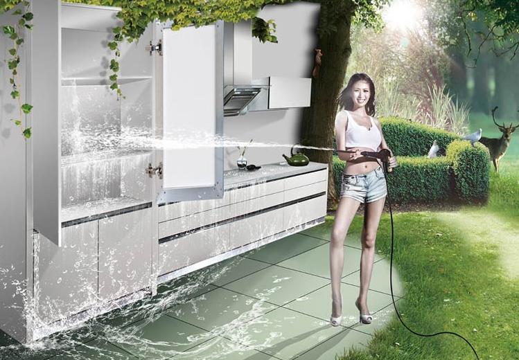 水洗不锈钢橱柜
