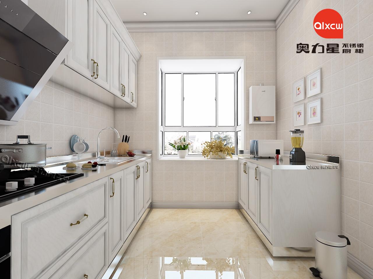 欧式厨房不锈钢橱柜