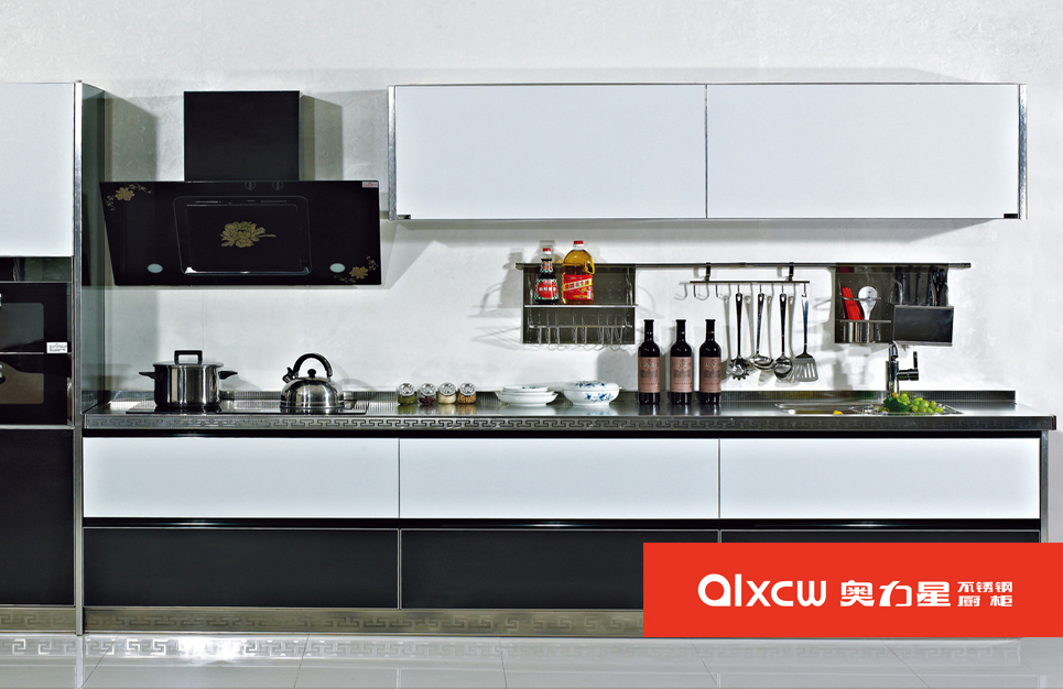 厨房一字型橱柜
