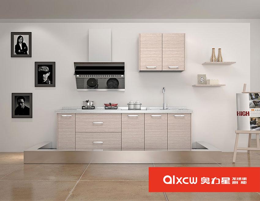 一字型小厨房橱柜效果图