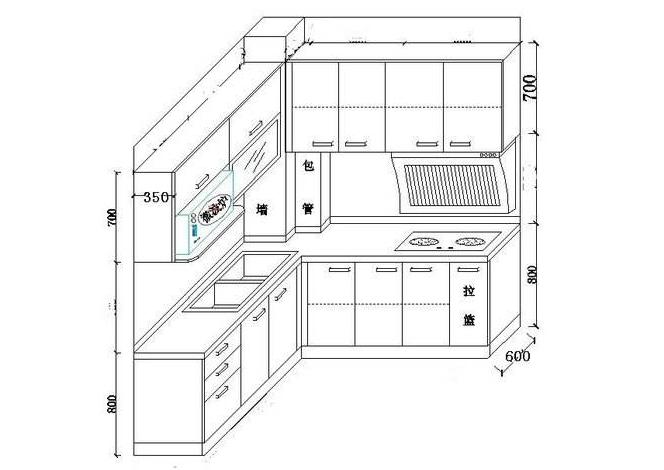 橱柜设计尺寸图
